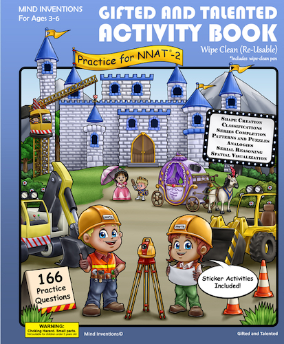 WIPE CLEAN Activity Book Volume 2 – (NNAT-2)