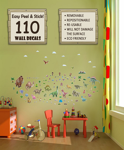 Dino World Decorative Peel & Stick Wall Sticker Decals