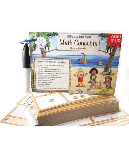 WIPE-CLEAN Math Concepts Flash Card Booklet
