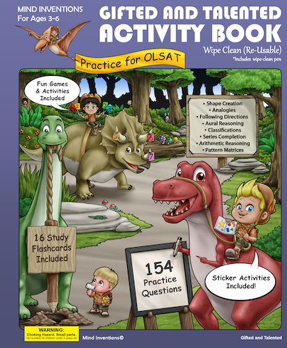 WIPE CLEAN Activity Book Volume 1 –  (OLSAT)
