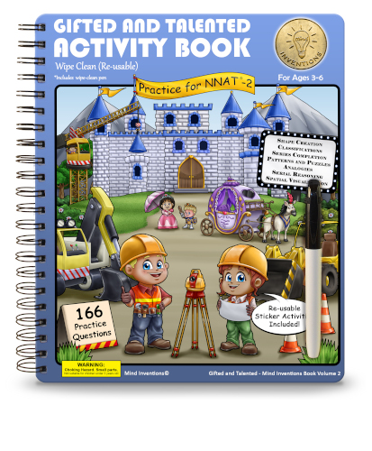 WIPE CLEAN Activity Book Volume 2 – (NNAT-2)
