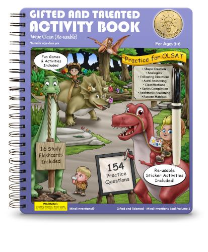 WIPE CLEAN Activity Book Volume 1 –  (OLSAT)