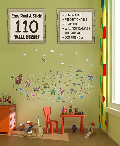 Dino World Decorative Peel & Stick Wall Sticker Decals