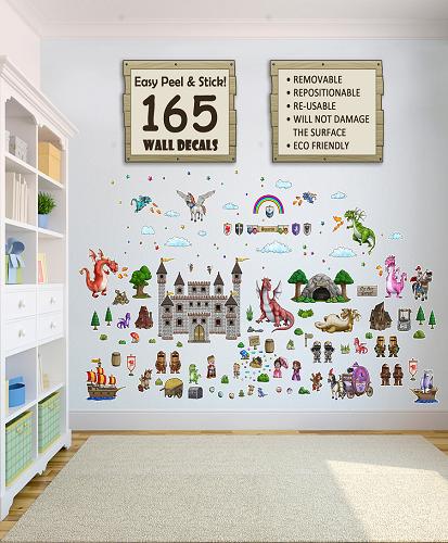 Dragon World Decorative Peel & Stick Wall Sticker Decals