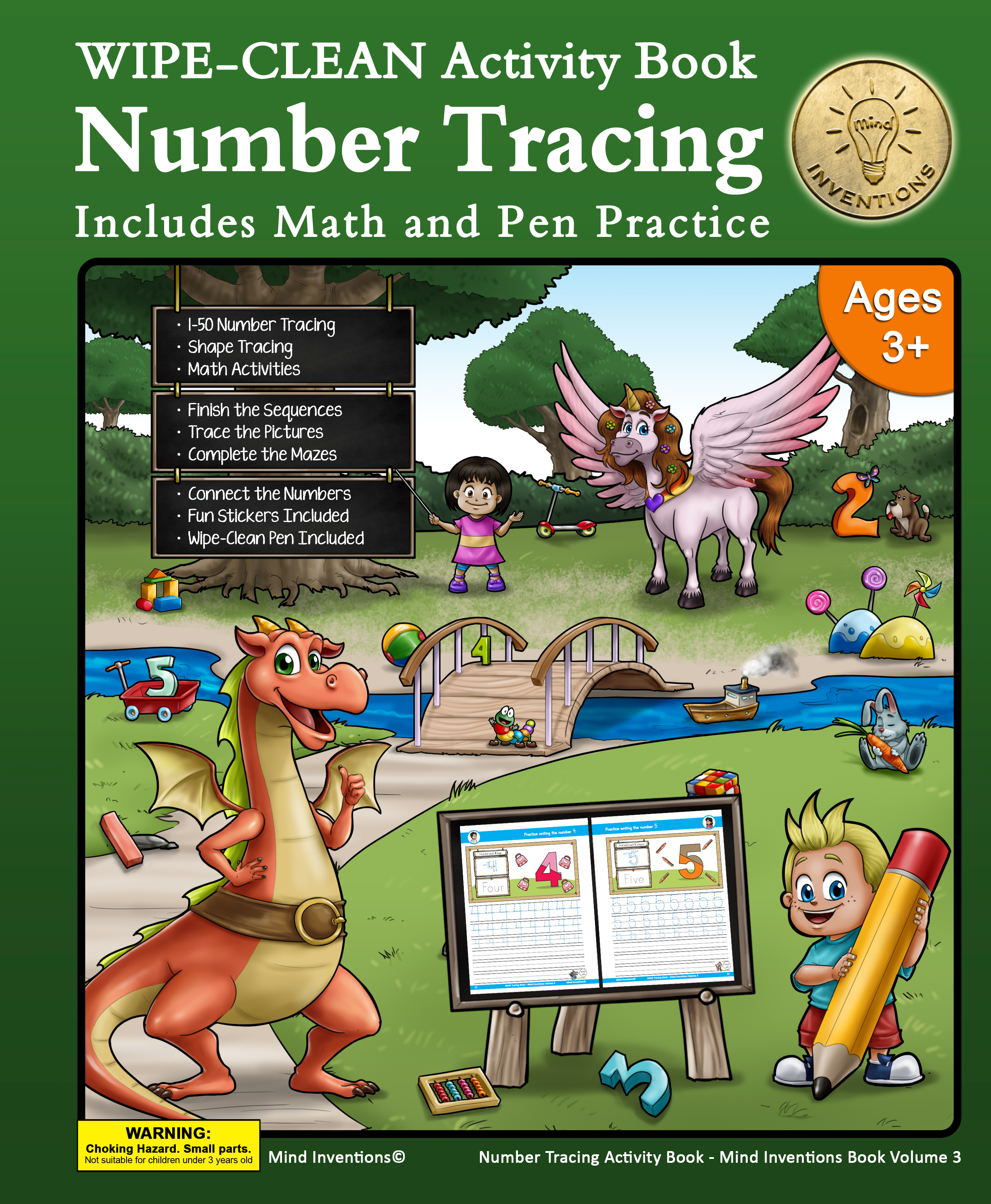 WIPE CLEAN Activity Book Volume 3 – (Number Tracing)
