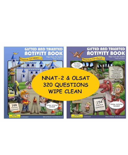 WIPE CLEAN Activity Books (OLSAT & NNAT-2)